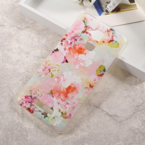Embossed Pattern TPU Back Phone Case for Asus Zenfone 3 Max ZC520TL - Blooming Flowers