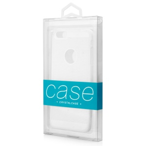 50Pcs/Lot KJ-666 Customizable Clear Retail Packaging Box for iPhone 7 Plus Cases, Size: 187 x 105 x 15.5mm - Baby Blue