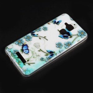 Embossed Pattern TPU Phone Shell for Asus Zenfone 3 Max ZC520TL - Butterflies and Flowers