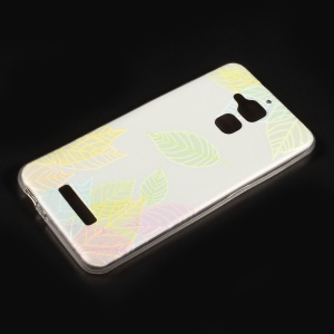 Embossed Pattern TPU Phone Cover for Asus Zenfone 3 Max ZC520TL - Colored Leaves