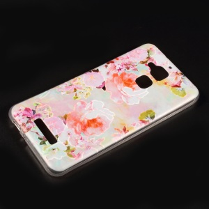Embossed Pattern TPU Back Case for Asus Zenfone 3 Max ZC520TL - Blooming Flowers