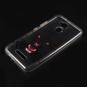 Embossed Pattern Soft TPU Phone Casing for Asus Zenfone 3 Max ZC520TL - leopard