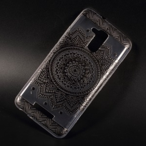 For Asus Zenfone 3 Max ZC520TL Patterned TPU Embossment Mobile Cover - Mandala Flower