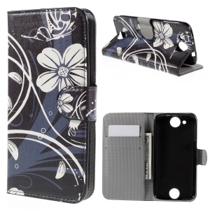 Wallet Leather Stand Case for Acer Liquid Jade Z - Beautiful Flowers