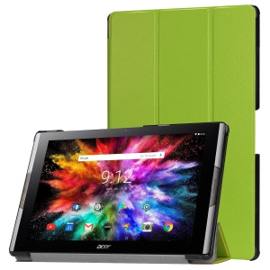 Tri-fold Stand Leather Tablet Protective Case for Acer Iconia One 10 A3-A50 - Green