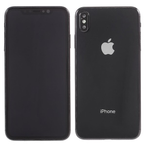 1:1 Scale Black Screen Non-working Display Dummy Phone for iPhone XS Max 6.5 inch - Black