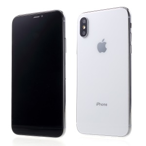 1:1 Scale Black Screen Non-real Display Dummy Phone for iPhone Xs 5.8 inch - White