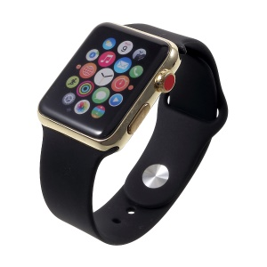 1:1 Scale Color Screen Non-working Display Dummy Replica Model for Apple Watch Series 3 38mm - Black / Gold