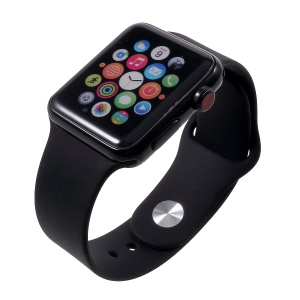 1:1 Scale Non-working Color Screen Display Dummy Replica Model for Apple Watch Series 3 42mm - All Black