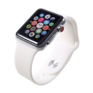 1:1 Scale Non-real Color Screen Display Dummy Replica Model for Apple Watch Series 3 42mm - White