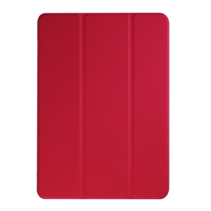 Tri-fold Leather Stand Case Cover for Acer Iconia One 10 B3-A20 - Red