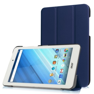 Leather Case Cover with Tri-fold Stand for Acer Iconia One 8 B1-850 - Dark Blue