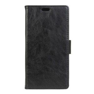 Crazy Horse Leather Wallet Case for Acer Liquid Zest Plus - Black