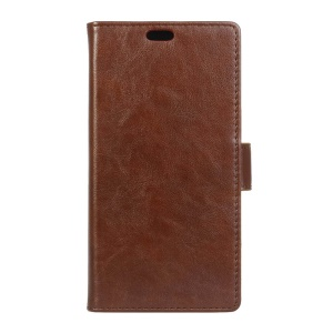 Crazy Horse Wallet Leather Stand Case for Acer Liquid Zest Plus - Brown