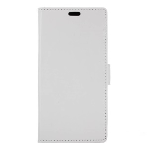 Crazy Horse Leather Wallet Cover for Acer Liquid Zest Plus - White