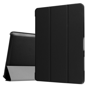 Tri-fold Leather Stand Case for Acer Iconia One 10 B3-A30 - Black