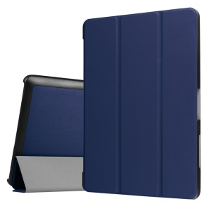 PU Leather Tri-fold Stand Case for Acer Iconia One 10 B3-A30 - Dark Blue