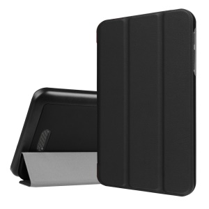 Tri-fold Stand Flip Leather Case for Acer lconia One 7 B1-780 - Black