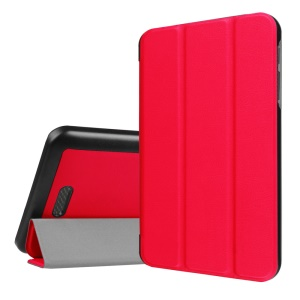 Tri-fold Stand Flip Leather Shell for Acer lconia One 7 B1-780 - Red