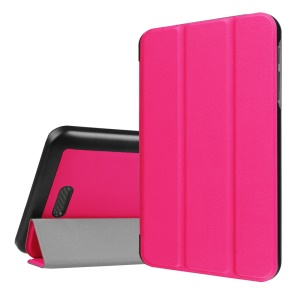 PU Leather Tri-fold Stand Case for Acer lconia One 7 B1-780 - Rose