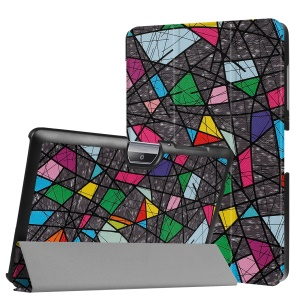 Patterned Leather Tri-fold Stand Case for Acer Iconia One 10 B3-A30 - Geometric Pattern and Lines