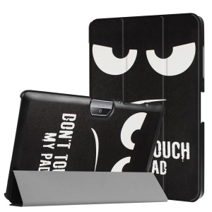 Patterned Leather Tri-fold Flip Cover for Acer Iconia One 10 B3-A30 - Do Not Touch My Tab