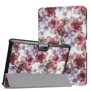 Tri-fold Stand Leather Patterned Case for Acer Iconia One 10 B3-A30 - Beautiful Flowers