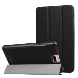 Tri-fold Stand Leather Protection Case for Acer Iconia Talk S A1-734 - Black