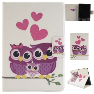Fragrant Card Slot Smart Leather Case for Amazon Kindle Paperwhite 2 - Sweet Owl Family