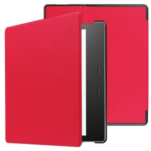 Folio Leather Cover for Amazon Kindle Oasis 7-inch (2017) - Red