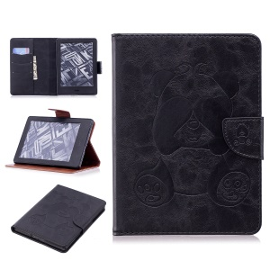 Imprint Panda Wallet Funda De Cuero Para Tablet Amazon Kindle (2016) - Negro
