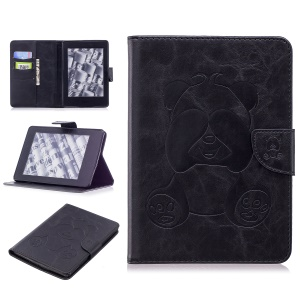 Imprint Panda Wallet Leather Stand Case Accessory for Amazon Kindle Paperwhite 1 2 3 - Black