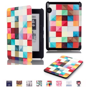 Smart Leather Flip Case for Amazon Kindle Voyage - 3D Effect Check