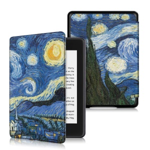 Pattern Printing Leather Smart Case for Amazon Kindle Paperwhite (2018) - Oil Painting