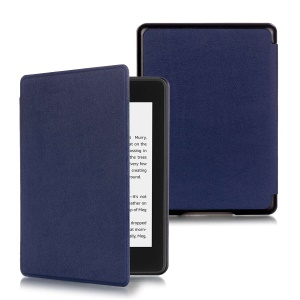 PU Leather Auto-wake/sleep Protective Flip Cover for Amazon New Kindle Paperwhite (2018 Version) - Dark Blue
