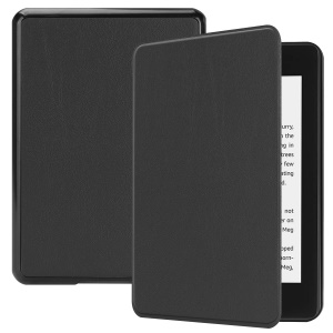Auto-Wake / Sleep PU-Leder-Etui Für Amazon Kindle Paperwhite 4 (2018) - Schwarz