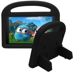 For Amazon Fire 7 (2017) [sparrow Design] Custodia EVA Per Bambini Antiurto Con Staffa E Maniglia - Nero