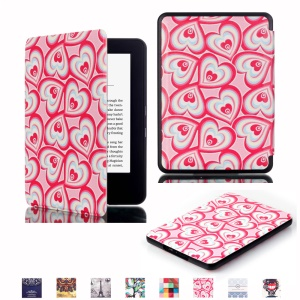 Smart Leather Cover Protector for Amazon New Kindle 2014 - Multiple Hearts