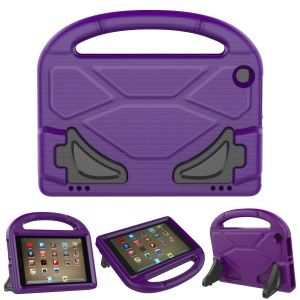 For Amazon Fire HD 8 (2017) Football Texture Shockproof Kids Friendly EVA Case Accessory with Bracket and Handle - Purple