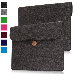 Stylish Felt Skin Leather Pouch Case for Amazon Kindle Oasis - Black