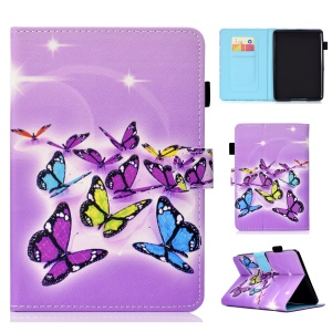 Pattern Printing PU Leather Flip Case [Auto Wake / Sleep] for Amazon Kindle Paperwhite 4 (2018) - Colorful Butterflies