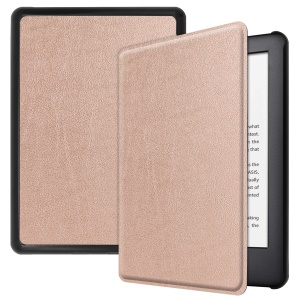 PU Leather Protection Smart Case Cover for All-New Kindle 2019 - Rose Gold