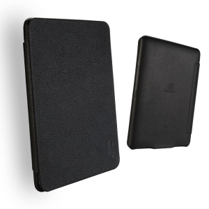 LENUO Ledream Litchi Grain Slim Leather Flip Case for Amazon Kindle Paperwhite 3/2/1 - Black