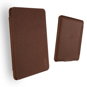 LENUO Ledream Litchi Grain Slim Leather Protective Cover for Amazon Kindle Paperwhite 3/2/1 - Coffee