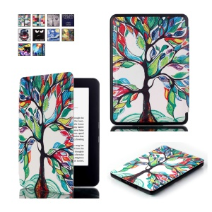 Pattern Printing Smart Leather Flip Protective Case for Amazon All-new Kindle (2016) - Colorized Tree