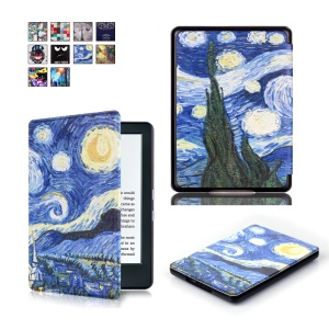Pattern Printing Smart Leather Flip Protector Cover for Amazon All-new Kindle (2016) - Starry Sky