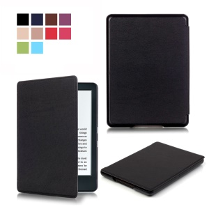 Smart Leather Case for Amazon Kindle (2016) - Black