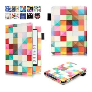 Printed Leather Smart Case for Amazon Kindle (2016) - 3D Visual Effect Checks