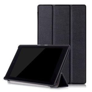 Tri-fold Stand Leather Smart Case for Amazon Fire HD 8 (2016) - Black