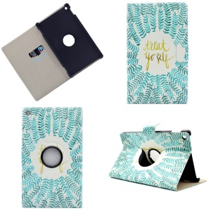 Patterned PU Leather Rotary Stand Shell for Amazon Fire HD 8 (2016) - Treat Yourself